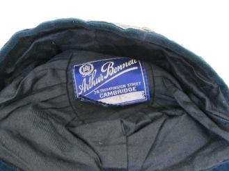 LEYS SCHOOL CAP 1933-34 label (ER)