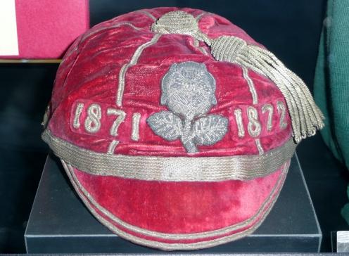 First England International cap. World Rugby Museum - Twickenham