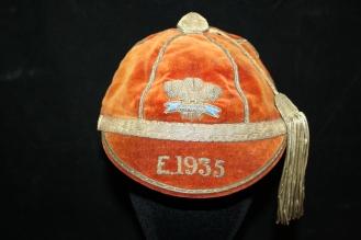 WALES SCHOOLS CAP 1935 - T MORGAN (WRU)