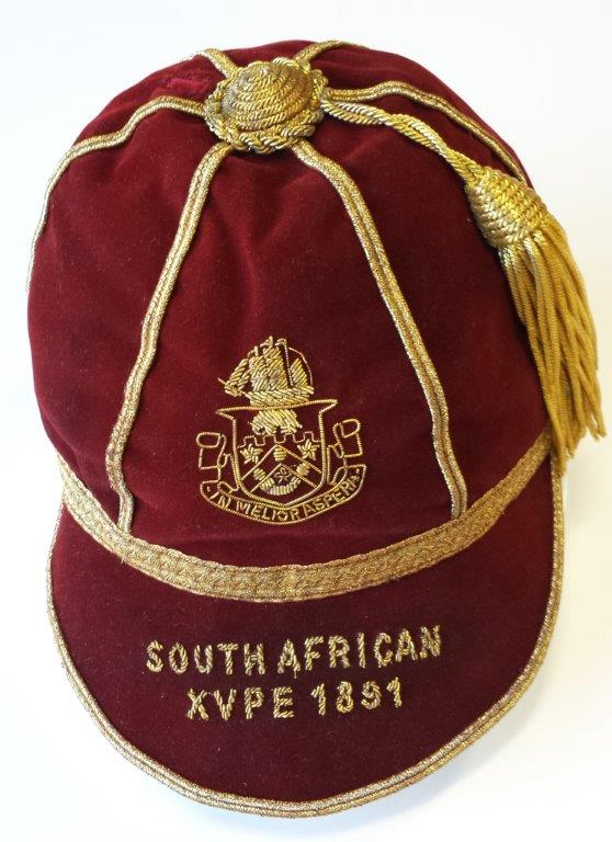 1891 Cap - The Springboks didnt wear green until 1896