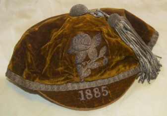 Yorkshire Rugby Cap 1885 - C E Fox