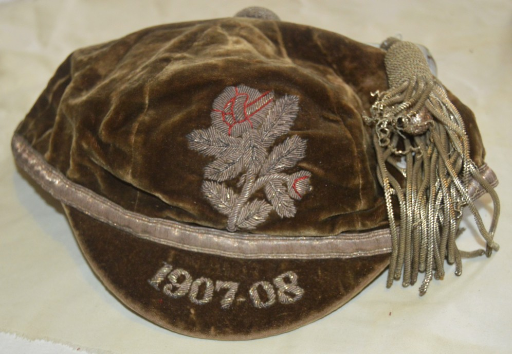 Yorkshire Rugby Cap 1907-1908 - J A King
