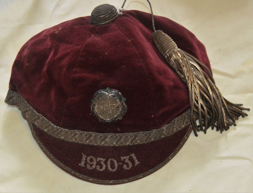 Yorkshire Rugby Cap 1930-31 -R M A Kingswell
