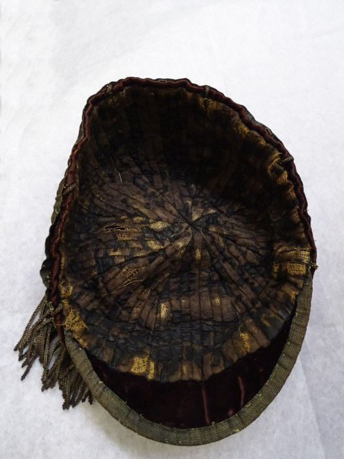 1891-92 Wales Trial Rugby Cap - Inside (CRM54)