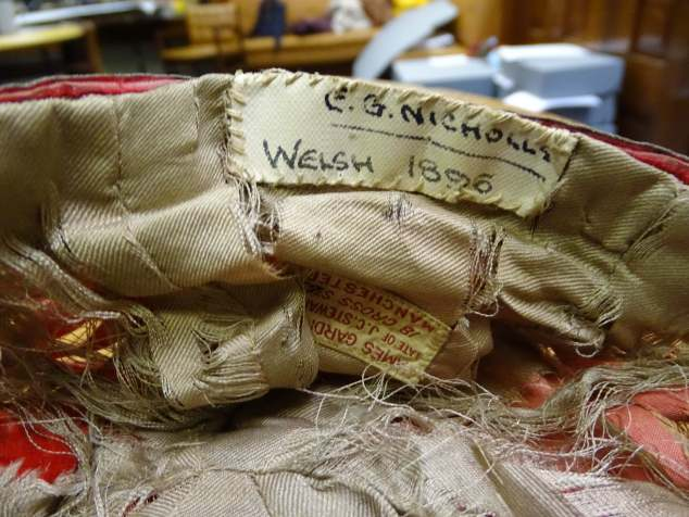 1896 Wales Rugby Cap - Inside (CRM89)