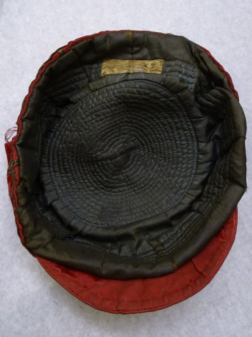 1898 Wales Rugby Cap - Inside (CRM36)