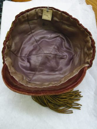 1905 Wales final Trial Cap - Inside (CRM247)