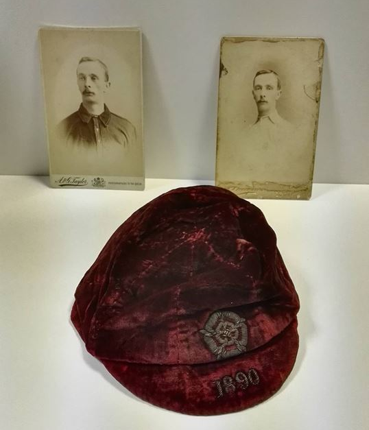1890 england football cap -william-townley