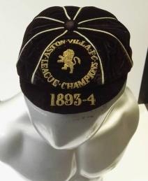 1893-1894 aston villa - cap dennis-hodgetts