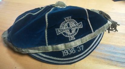 1936-37 ireland football cap - davy-boy-martin