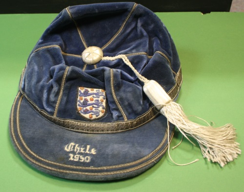 1950 england football cap v chile sir-tom-finney