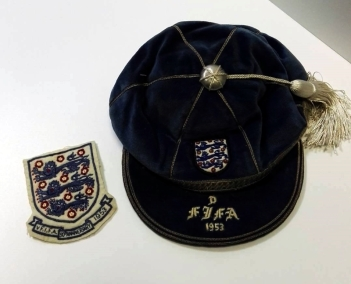 1953 england football cap - alf-ramsey
