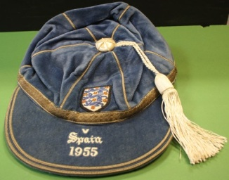 1955 england football cap v spain sir-tom-finney