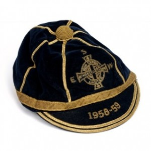 1958-9 northern ireland football cap