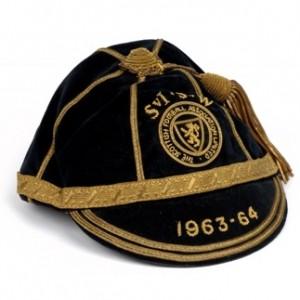 1963-4-scotland football cap