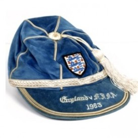1963-england football cap v usa
