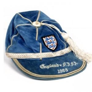 1963-england football cap v usa