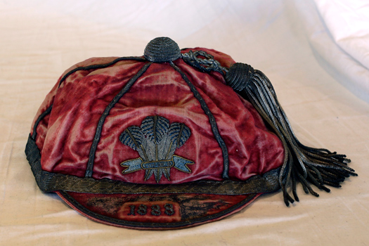 1888 Wales cap awarded to W H Howell against Scotland.
