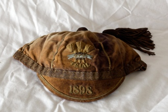1898 Wales Trial cap FRED SCRINE of Swansea RFC