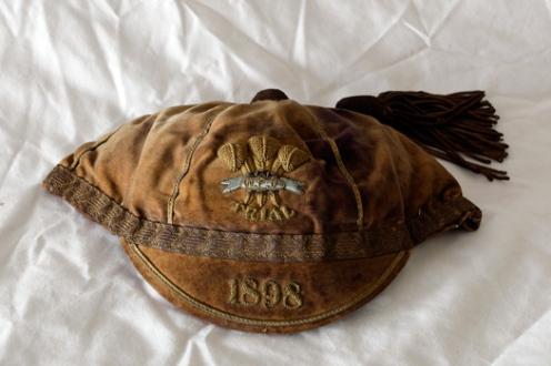 1898 Wales Trial cap FRED SCRINE of Swansea RFC