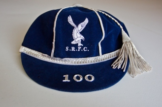 """The Swansea """"100"""" cap was reintroduced in 2016 by the club for 100 appearances"""