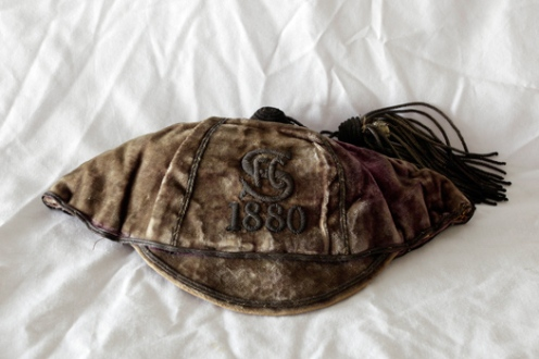 The Swansea RFC 1880 cap awarded to forward TOM CLARK in the year they first won the South Wales Challenge Cup